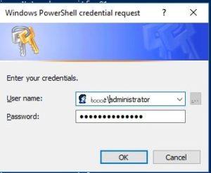 get-credential prompt